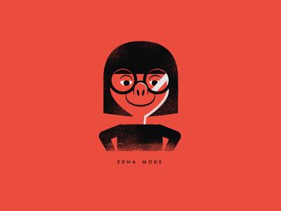 Edna Mode minimal grunge cartoon fanart edna incredibles the incredibles edna mode