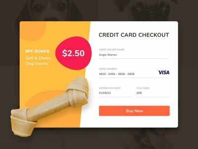 UI Challenge 002 Credit Card Checkout