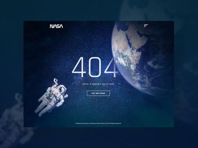 UI Challenge 008 404 Page nasa space ui  ux ui  ux design ui 100day ui 100 ui 404 error page 404-error 404 page 404