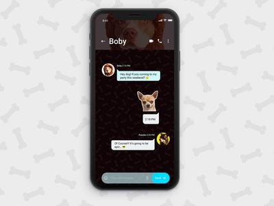 UI Challenge 013 Direct Messaging