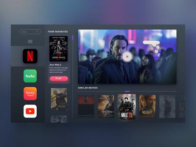 UI Challenge 025  TV App