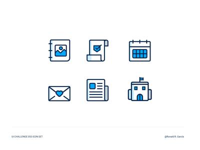 UI Challenge 055 Icon Set