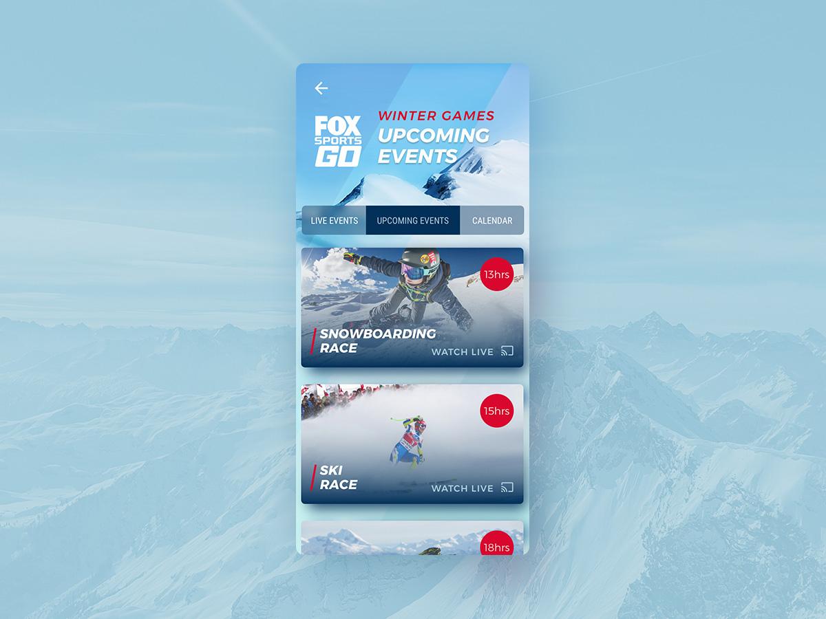 UI Challenge 070 Event Listing ui challenge ui  ux ui ui 100day ui  ux design uidesign winter olympics sport app sport event listing event