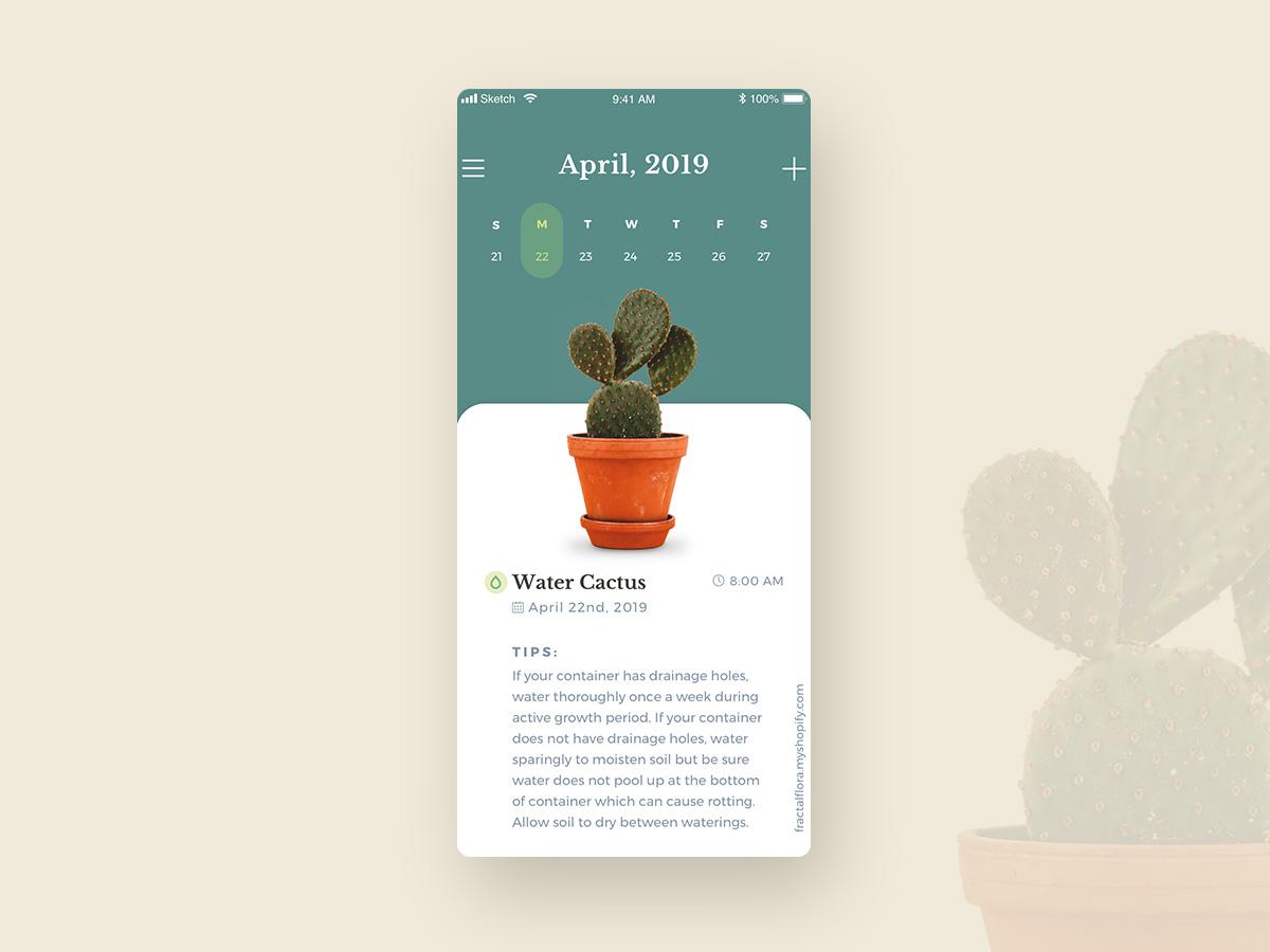 UI Challenge 071 Schedule ui challenge ui  ux ui ui 100day ui  ux design uidesign scheduler schedule cactus plant