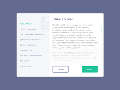 UI Challenge 089 Terms Of Service