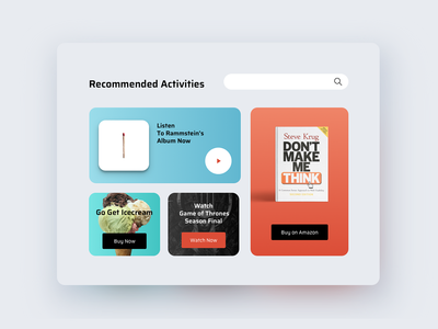 UI Challenge 091 Curated For You