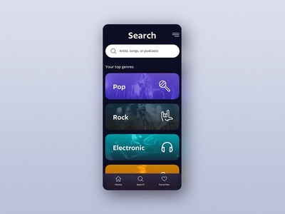 UI Challenge 099 Categories