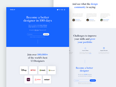 UI Challenge 100 Redesign Daily UI Landing Page