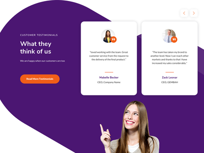 Testimonials Section design uidesign ui  ux design agency landing page agency website agency testimonials testimonial