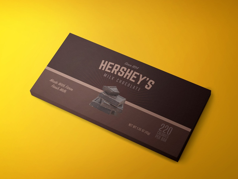 Hershey's Redesign dribbbleweeklywarmup vintage hersheys hershey candy bar packaging design packagedesign package chocolate packaging chocolate bar chocolate