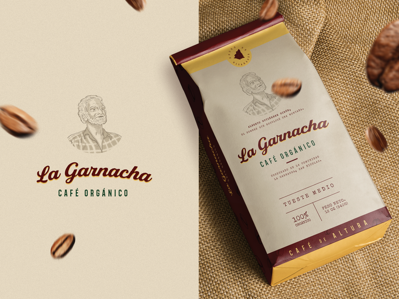 Weekly Warm-Up: Week 08 Coffee Package challenge nicaragua organic food organic traditional vintage logo illustration package dribbleweeklywarmup coffee