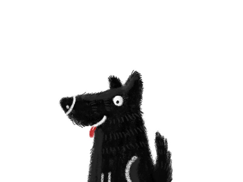 Dog dribbbleweeklywarmup weekly challenge weeklywarmup weekly warm-up digital illustration digital painting dog illustration doggy dog