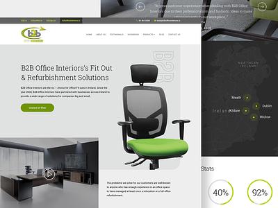 B2B Landing page minimal uidesign ui modern furniture website furniture design office design