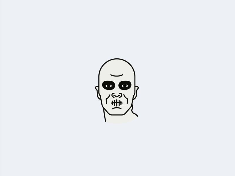 War Boy weekly challenge weekly warm-up weeklywarmup dribbbleweeklywarmup avatar icons avatar icon minimal icon movie war boys fury road furyroad madmax