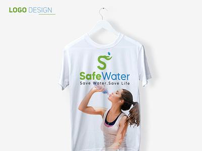 Safe water Logo design water safewater logo2020 landing page @business card love flyer dribbble creativity typography concept design enjoyment advertising logo