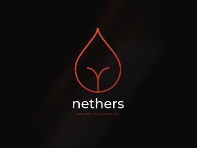Nethers Brandmark naughty pleasure vector brandmark brand design branding brand logo design logo
