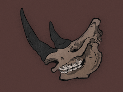 Rhino Skully illustration vector dark art rhino skull art skull