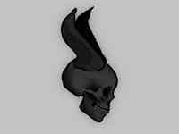 Maleficent Skully illustration maleficent vector skull art skull
