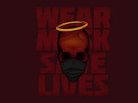 """""""Stay Safe"""" Skully covid19 design skull illustration vector"""