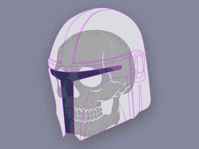 Mando Skully (take 4) art vector illustration mandolorian star wars