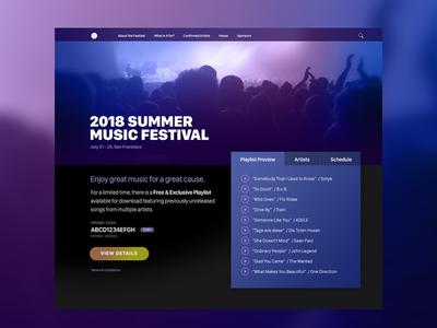 Summer Music Festival Promotional Website