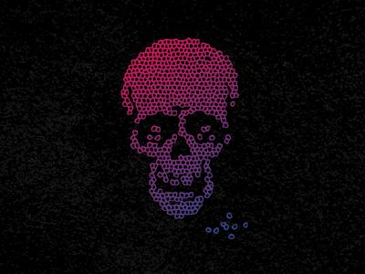 Abstract Skully Illustration