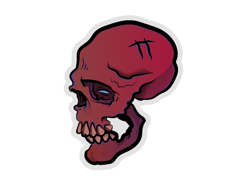 Tired Skully illustrator vector skull a day skull