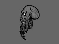 The Bearded Skully Tattoo