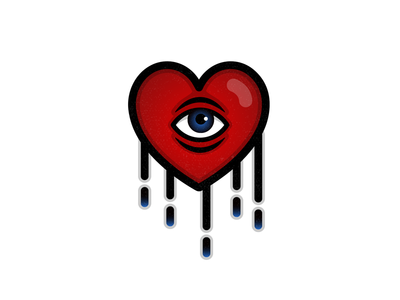 One Eyed Hearts tattoo design illustration vector eye heart ink tattoo