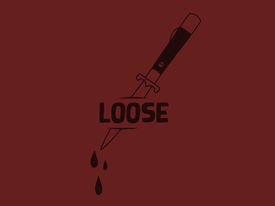 """Cuttin Loose"" art illustration dagger"
