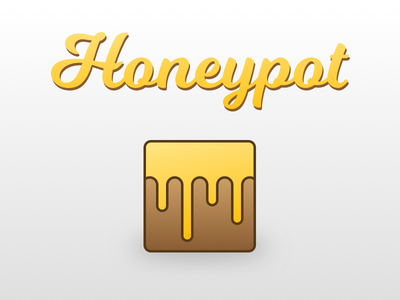 Honeypot Logotype & App Icon app icon honeypot logotype logo