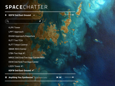 SpaceChatter web design concept experimental player ux ui
