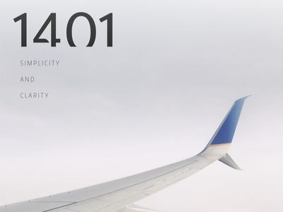 1401 // Simplicity And Clarity
