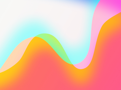 Abstract Gradient Experiment colorful curves wavy sketchapp experiment gradient abstract