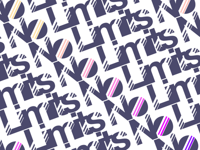 No Limits - Concept #7 gradient retro concept logo limits no