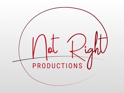 Not Right Productions Logo gradient red cursive logotype logo