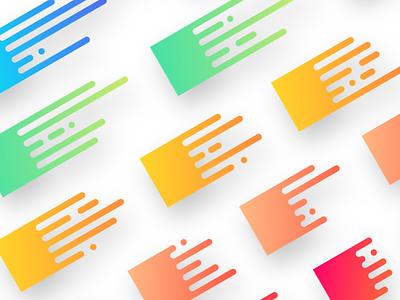 Blobby Streaks set gradients trend design streaks blobby