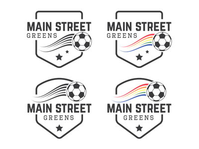 Main Street Greens Logo team star lgbt badge logo soccer