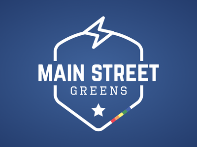 Main Street Greens Final Logo bolt lightning team star lgbt badge logo soccer