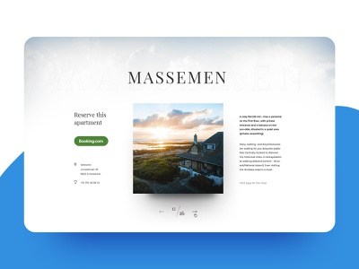 Eye-catching landing page for a coastal vacation home web whitespace onepage white typography web  design clean inspiration inspiraldesign design designinspiration ui