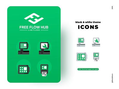 POS terminal icon inspiration designinspiration web app icon vector typography clean illustration ui