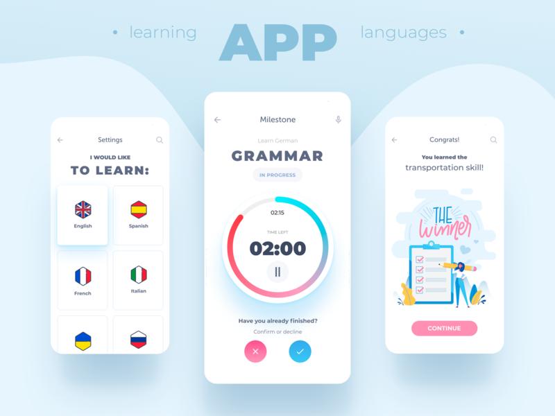 Grammar app ux designer uxuidesign ux  ui vector illustration clean app inspiration inspiraldesign designinspiration ui design