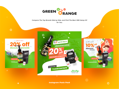 Green & Orange corporate instagram