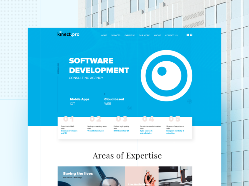 Kinect pro software development agency by BLACKMOON on Dribbble