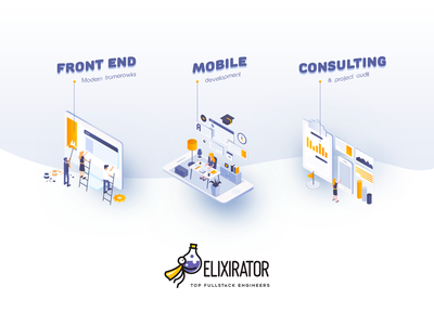 Elixirator illustration web icon branding web  design inspiration inspiraldesign ui designinspiration vector illustration clean design