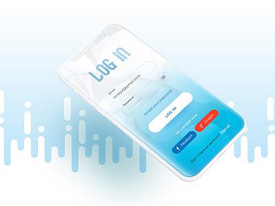 Log in form for reading app clean ux app ux designer illustration inspiration inspiraldesign ui designinspiration design