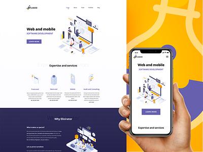 Elixirator landing page vector ux designer illustration web  design clean inspiration ui inspiraldesign designinspiration design