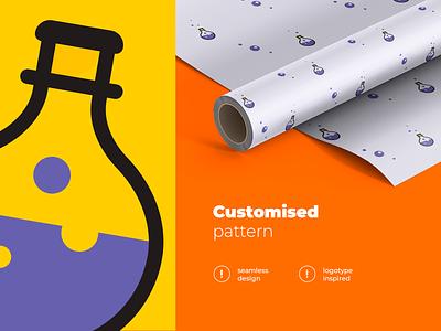 Customised pattern Elixirator designinspiration clean inspiraldesign ui pattern design pattern branding logo vector illustration design