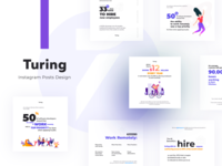 Stylish and Clean social media designs for Turing