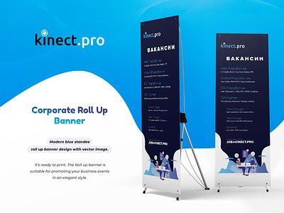 kinect.pro roll up banner design rollup banner rollup banner design banner typography logo designinspiration clean illustration vector branding ui
